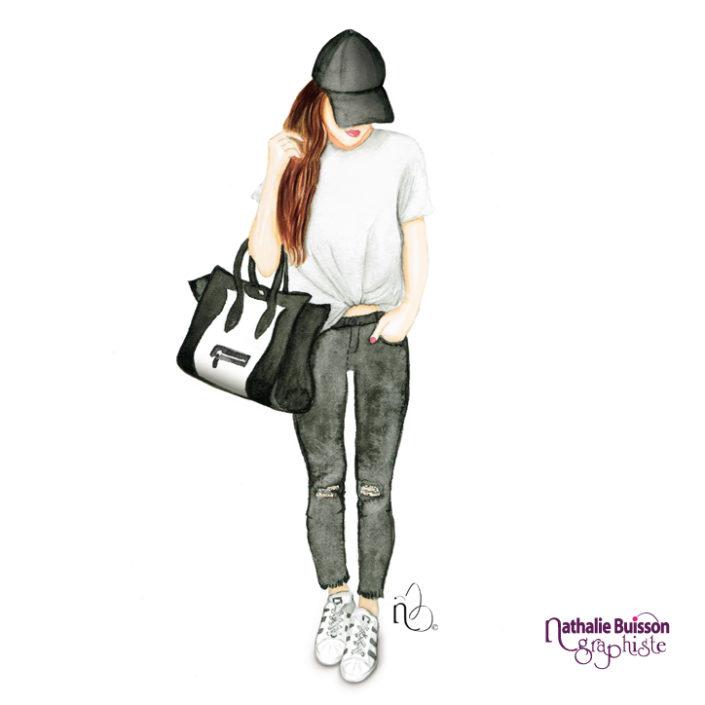 Nathalie buisson graphiste illustratrice à limoges, dessinatrice, illustrateur, dessinateur, communication, logo, identité visuelle, #watercolor #aquarelle #fashionillustration